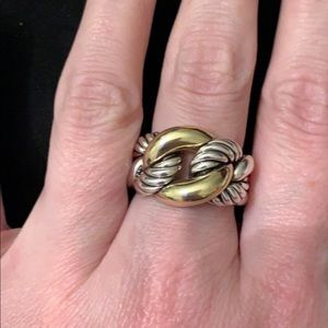 David Yurman Belmont Curb Link Ring size 8